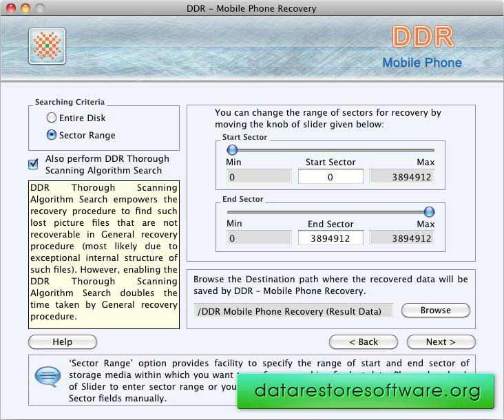 Screenshot of Mac Recover Data