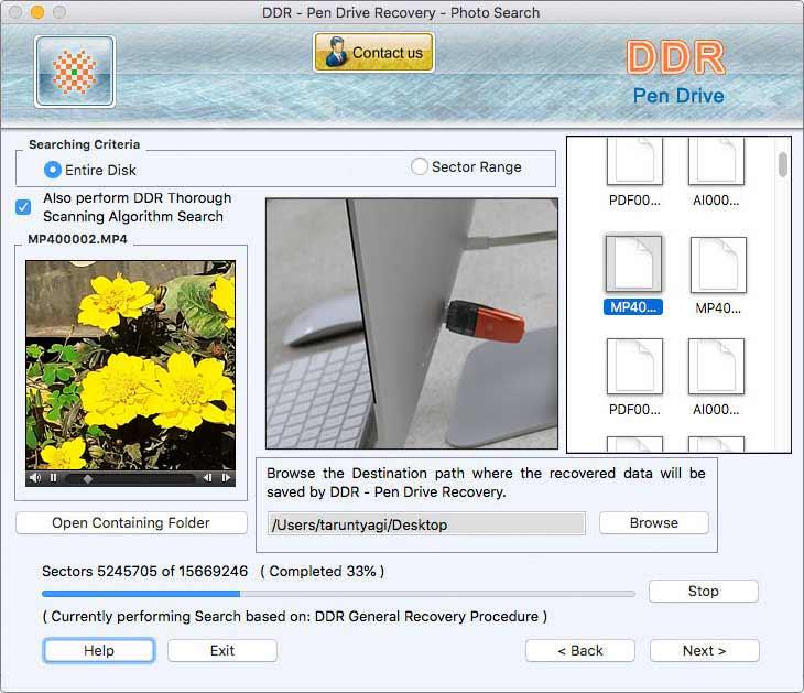 Mac USB Recovery tool repairs lost mp3 files